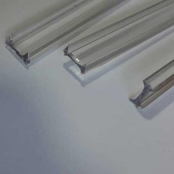 زوار H شفاف از جنس پلی کربنات برای شیشه های ۸ میلیمتر